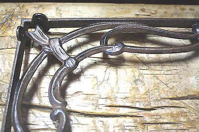 2 Cast Iron Antique Style VICTORIAN SCROLL Brackets Garden Braces Shelf Bracket 3