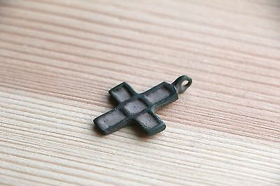 Fantastic Viking Kievan Rus Pendant Cross with with rectangular ends 10-11 AD 9