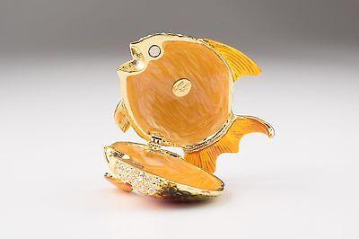 6 Of 11 Fish Trinket Box By Keren Kopal Austrian Crystal Jewelry Faberge