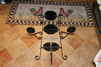 Vintage Wrought Iron Garden Plant Stand-Black-Holds 5 Plants-Architectural-LQQK 7