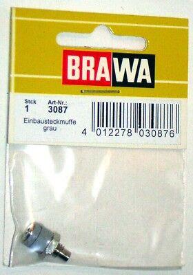 Brawa 3080–Accessorio Elettrico Boccola Da Pannello-Colori Assortiti 7