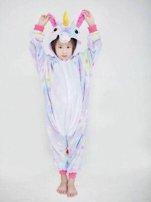 Adult/Child Unicorn Unisex Kigurumi Animal Cosplay Costume 1Onesie Pyjama UK 5