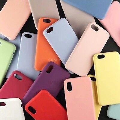 COVER per Iphone X /XS /Max/ XR / 8 /7/ 6 Plus CUSTODIA Slim Silicone Genuine 3