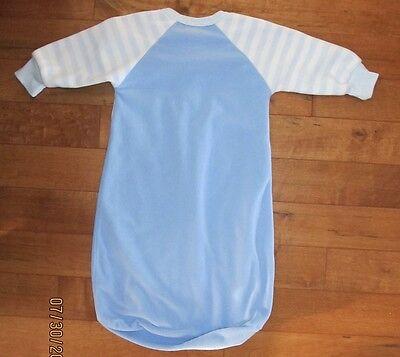 Carters Blue with Teddy Bear Fleece Baby Wearable Blanket Sleep Sack