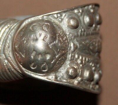 Antique Greek Orthodox folk silver fertility bracelet
