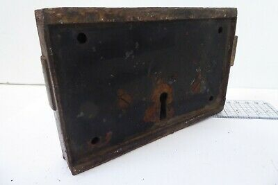 Unusual Antique Double Sided Victorian Door Rim Lock  Key Only Pad 5