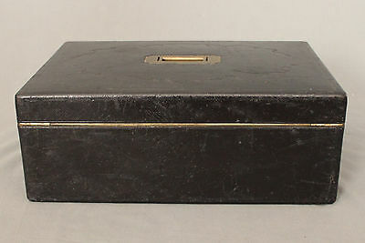 19th Century Leather Writing Box by W Leuchars 38 Piccadilly London 9