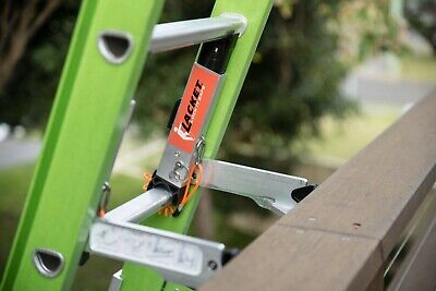 The Lacket Ladder Bracket with Stabiliser Bar - Fits Most Ladders,Quick,Secure 2