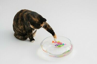 Interactive Swimming Robot Fish Toy for Cat with LED Light 4pc Set 2