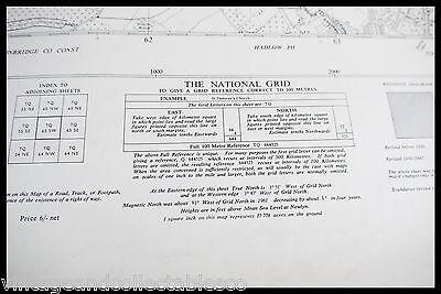 Vintage Ordnance Survey Sheet Map Tq 65 South West Kent 1961 6