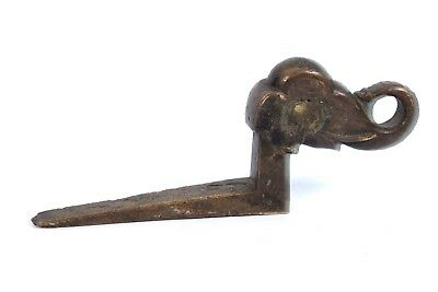 Vintage Elephant Shape Wall Hook Hanger Solid Brass Handcrafted Hook. i75-89 AU 2