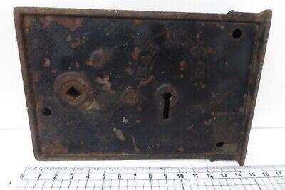 Antique R&E Russell Erwin New Britain Usa Door Rim Lock - Victorian Date Diamond 6