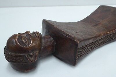 Old African Hand Carved Wooden Headrest