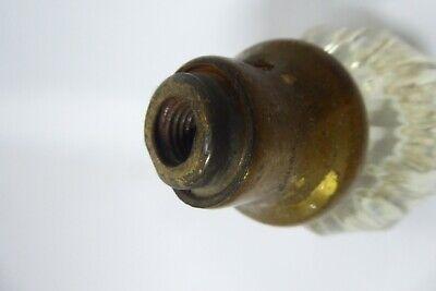 Antique Original Glass & Brass Door Knob Handle Cabinet Cupboard 3