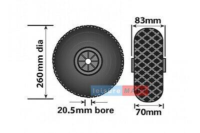 Replacement Spare Wheel and Tyre for a 48mm Pneumatic Jockey Wheel - Blue Center 2