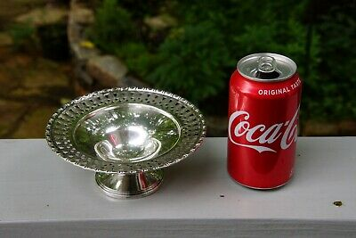 "Pierced Rim Sterling 96 grams 6"" x 2.5"" Footed Candy Dish/Bowl -- Sphinx Marking 2"