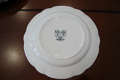 """Antique Sarreguemines green French Pottery  Plate Napoleon1922-1938 7.5/"""" faience"""