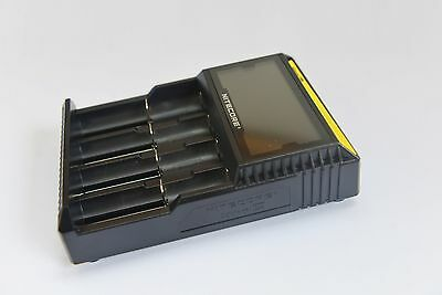 Nitecore D4 Digicharger LCD Smart Battery Charger lifepo4 18500 18350 14500 AAA 5