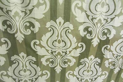 Dandini Olive Faux Silk  Prestigious Curtain//Craft Fabric