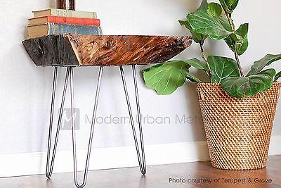 Usa Made Hairpin Legs Set Of 4 All Sizes Diy Raw Steel Metal
