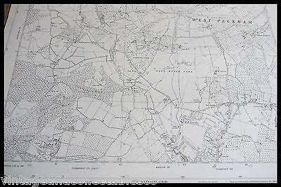 Vintage Ordnance Survey Sheet Map Tq 65 South West Kent 1961 4