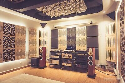 """2pcs 50*50*3cm Sound Absorption-Diffuse Acoustic Panel """"Wave"""", (laminated wood) 11"""