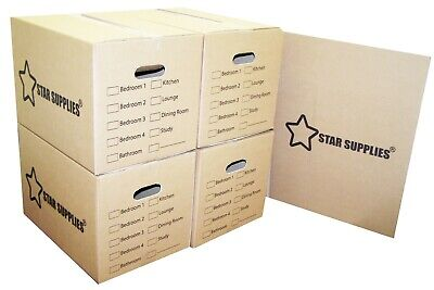 NEW X LARGE DOUBLE WALL CARDBOARD BOXES - House Removal Moving Packing Storage 3