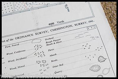 Vintage Ordnance Survey Sheet Map Tq 65 South West Kent 1961 5