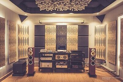 """2pcs 50*50*3cm Sound Absorption-Diffuse Acoustic Panel """"Wave"""", (laminated wood) 10"""