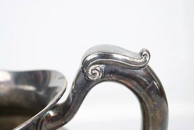 Vintage Silverplate Water Pitcher Signed Crescent Elegant Shape Form 3