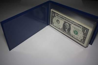 10 Consecutive Serial # US $1 DOLLAR BILLS Uncirculated in 10-Pocket PORTFOLIO 2