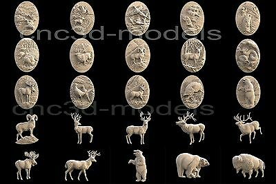 3D STL Models for CNC Router Carving Artcam Aspire Collection Animals 301 4