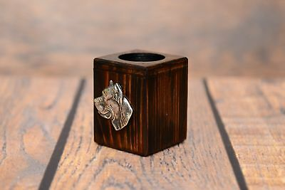 Cane Corso - wooden candlestick with image of a dog, Art Dog UK type 2 2