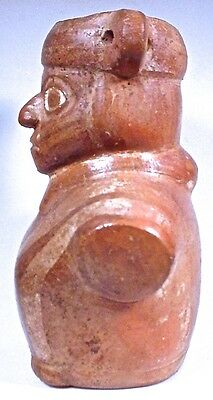 Pre-Columbian MOCHE PAINTED FIGURAL JAR 3