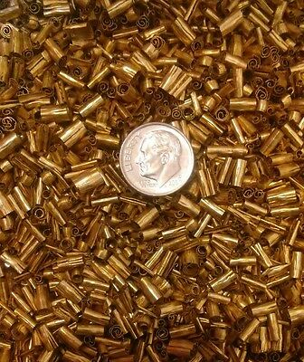 One pound brass chips turnings shavings machining 1 lb C360 yellow brass 2