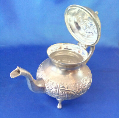 Beautiful  Handcrafted Marked  Islamic  Moroccan Hammered Teapot Tea Pot Unused 3