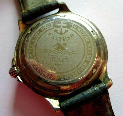 RARE MONTRE CALYPSO vintage marine sport collection homme
