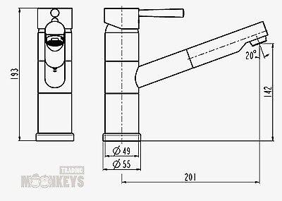 Hoga Bellaque Merida Hochdruck Küchenarmatur Spültischarmatur Ausziehb brause