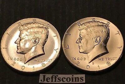 2018 P&D Kennedy Half Dollars Kenedy PD MINT ROLL Clad 50¢ 2 Uncirculated Coins 2