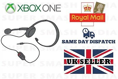 Official Genuine Xbox One Chat Headset With Mic Microsoft One S X 3.5Mm - New