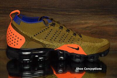 Nike Air Vapormax Flyknit 2 Running Shoes Golden Beige 942842-203 Men's NEW 5