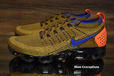 Nike Air Vapormax Flyknit 2 Running Shoes Golden Beige 942842-203 Men's NEW 2