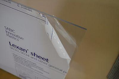 """4 PACK Clear Polycarbonate Makrolon Lexan Tufak Hyzod Sheet 24/"""" X 48/"""" X 1//8/"""""""