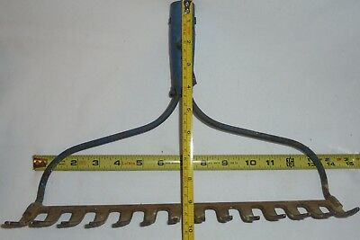 Vintage Iron,  Garden Rake > Coat Rack Kitchen Antique Farm Old Tool Tools