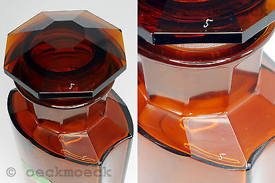 Altes Apotheken Standgefäß Braunglas Facettenschliff 3