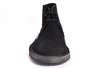SAFARI NATURAL 87000 NERO Scarpe Tipo Desert Boot Clark Polacchi Uomo Vera Pelle