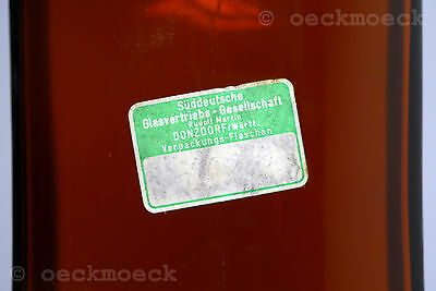 Altes Apotheken Standgefäß Braunglas Facettenschliff