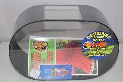 Zoo Med Betta Oval Shape Nano House 2 Gallon Siamese fighting fish Tank