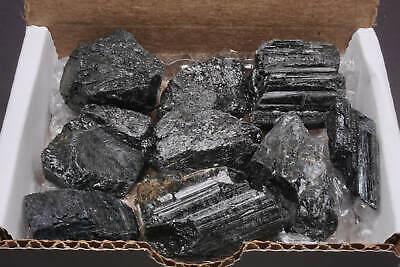 Tourmaline Collection 1/2 Lb Natural Black Schorl Gemstone Crystals Specimens 5