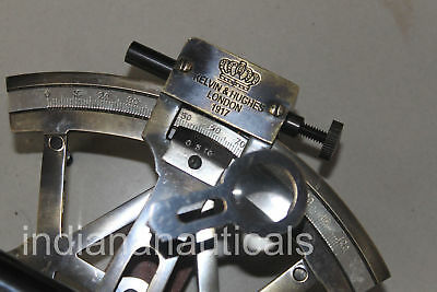 Nautical Solid Brass Sextant Vintage Marine Style Navy Sextant Ship Instrument 4